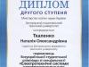 Диплом ІІ ступеня ЗНТУ Ткаленко