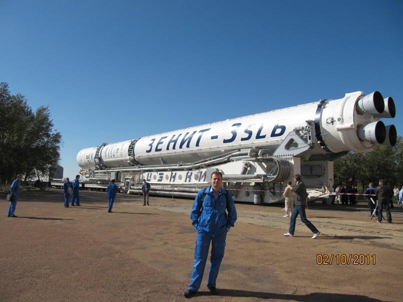 Запуск ракеты в Казахстане
