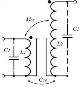 Рисунок 1 -  Эквивалентная схема трансформатора Тесла